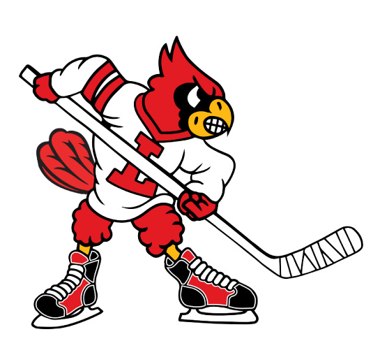 University of Louisville fighting cardinal logo